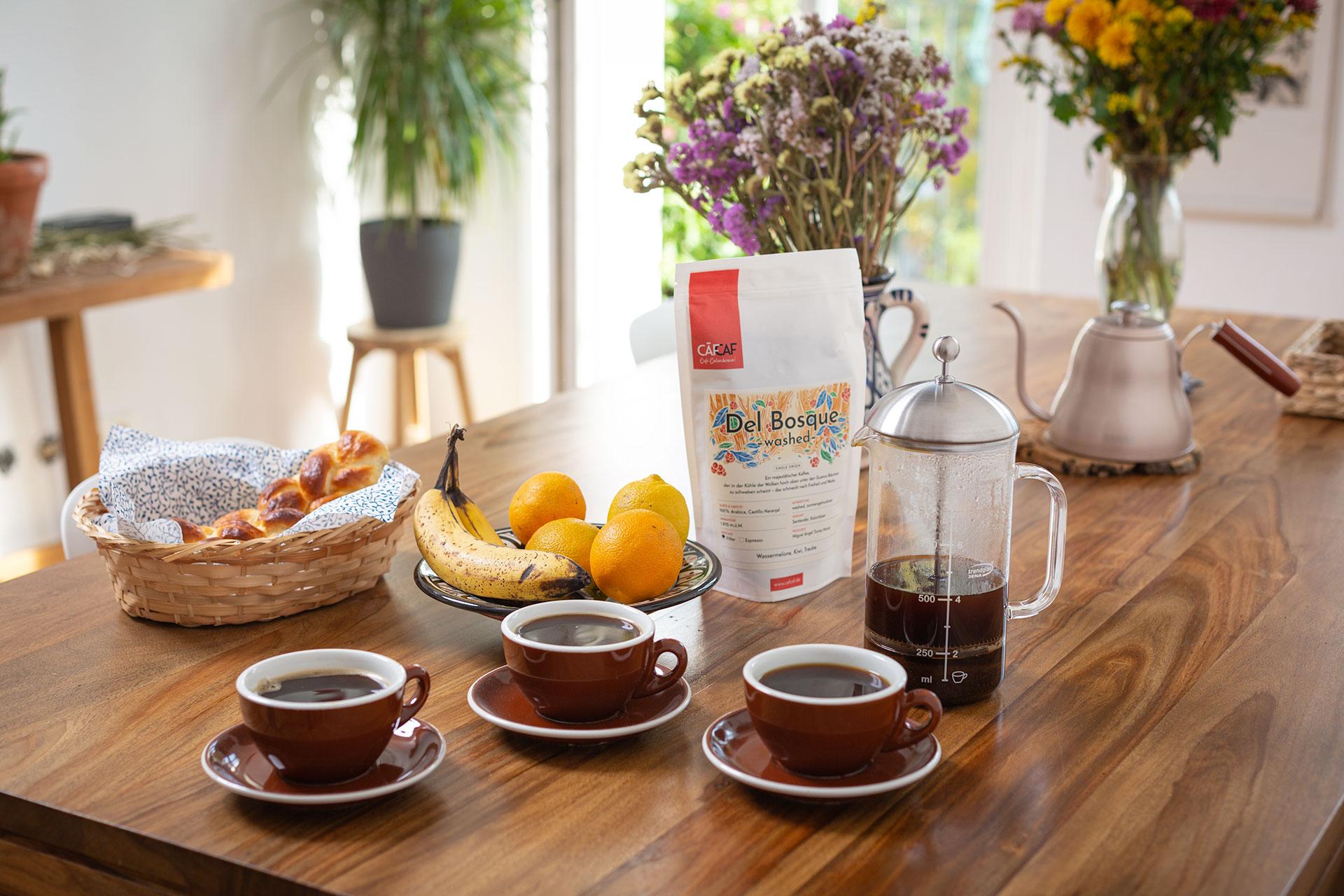 CafCaf Kaffee: der Geschmack Kolumbiens