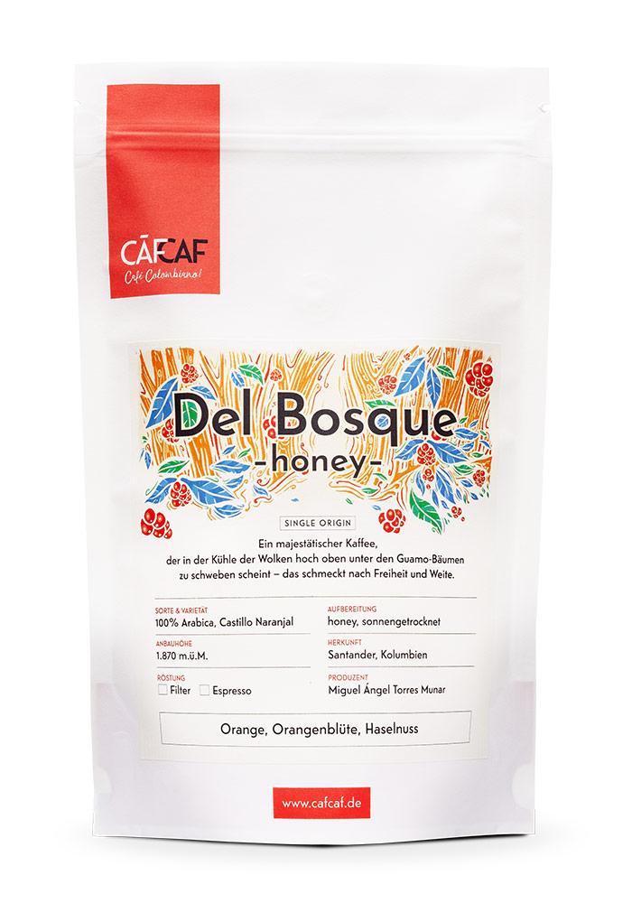 CafCaf Kaffee Del Bosque Honey Fermentiert