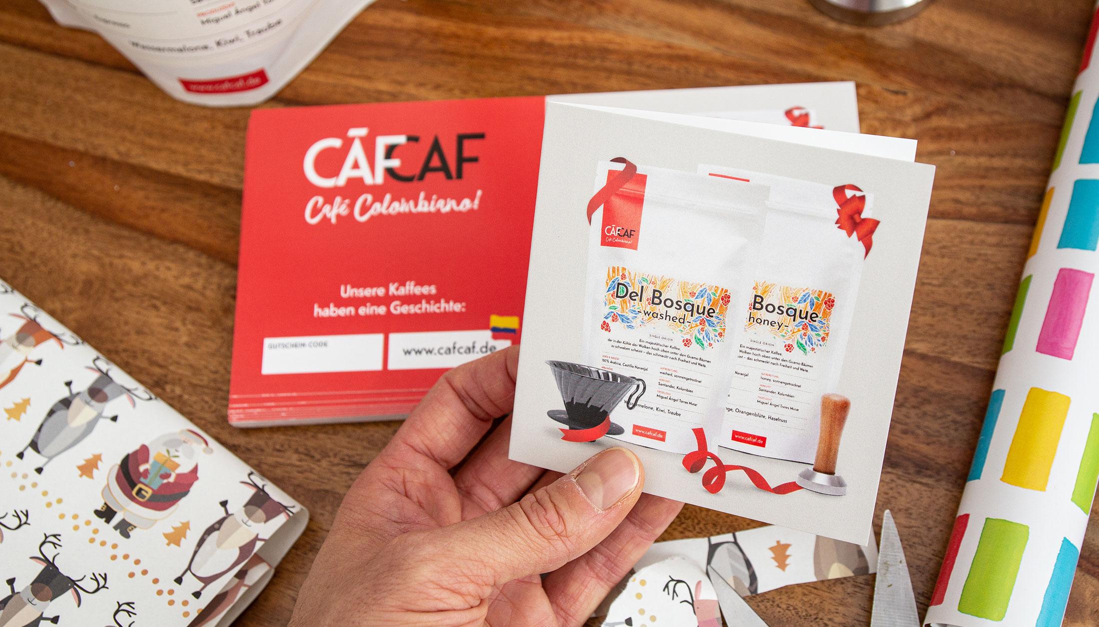 CafCaf Kaffee Gutschein zum Verschenken