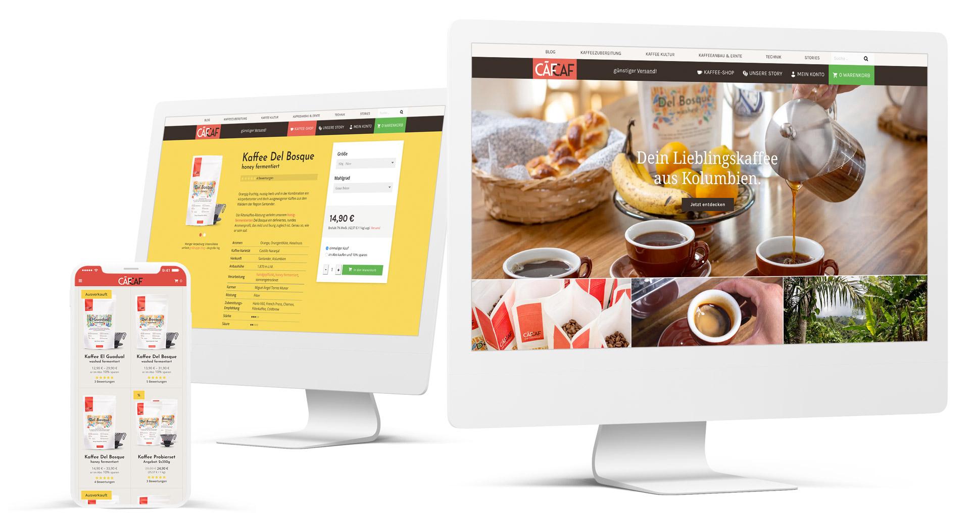 CafCaf Onlineshop für kolumbianischen Kaffee