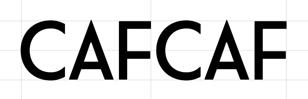 CafCaf Kaffee Shop und Blog, Schritt 1: Schriftsuche