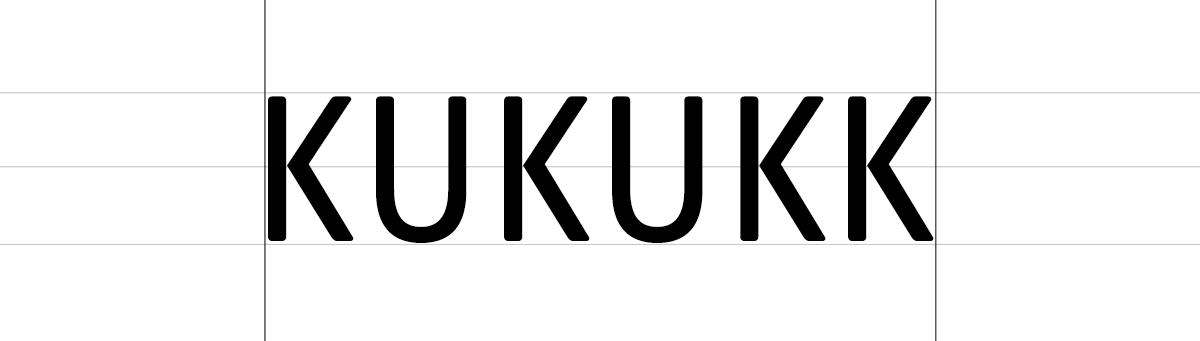 KUKUKK Logo, Schritt 1: Typosuche