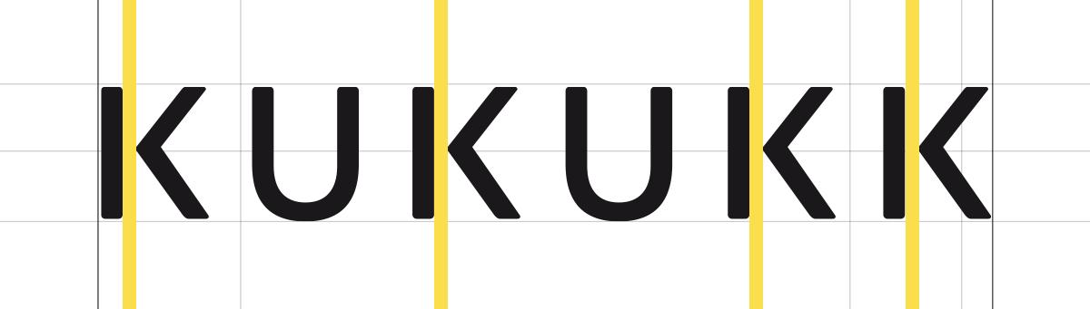 KUKUKK Logo, Schritt 3: Spationierung